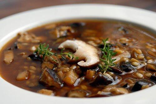 Суп из овсянки с грибами